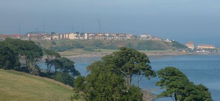 view of Buckhaven from Macduff Castle July 2001